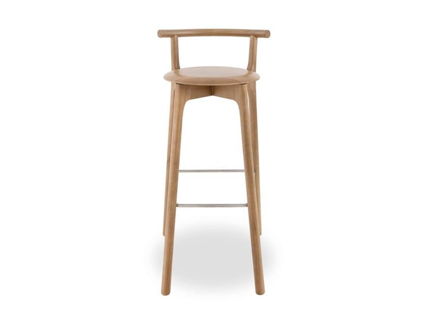 High wooden stool MARS | Stool by Branca Lisboa