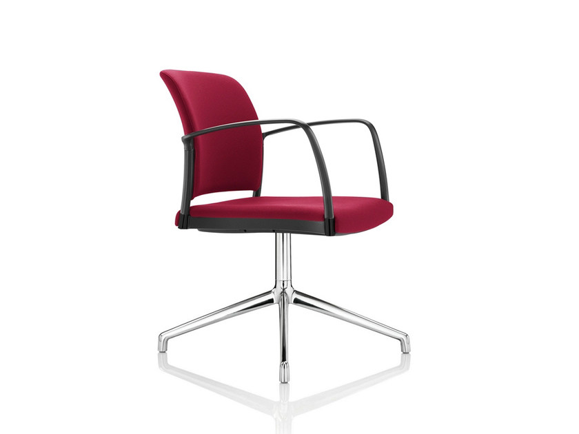 Upholstered fabric chair with 4-spoke base MARS | Chair with 4-spoke base by Boss Design