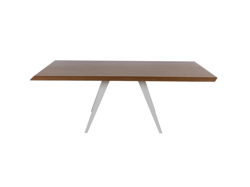 Rectangular wooden dining table MARSEILLE by Green Apple