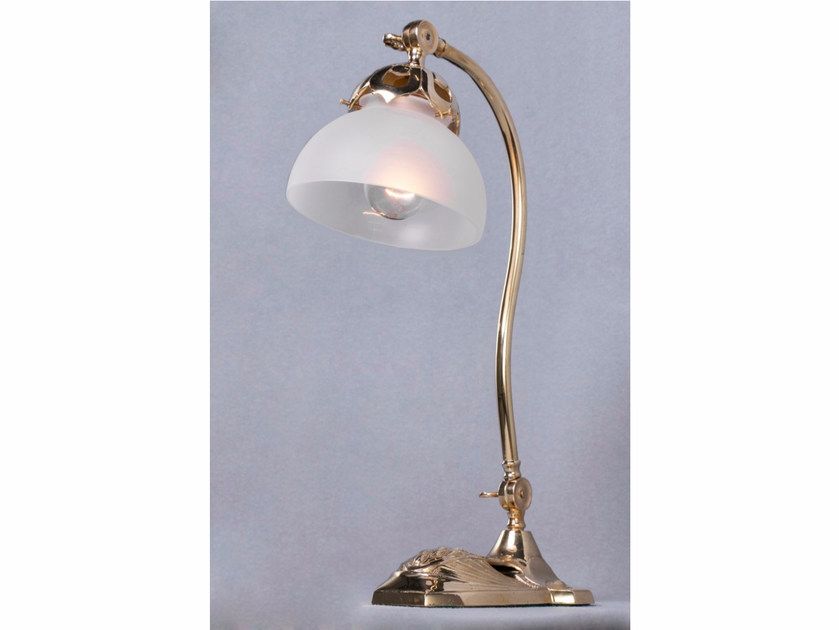 Direct light brass table lamp MARSEILLES I   Table lamp by Patinas Lighting