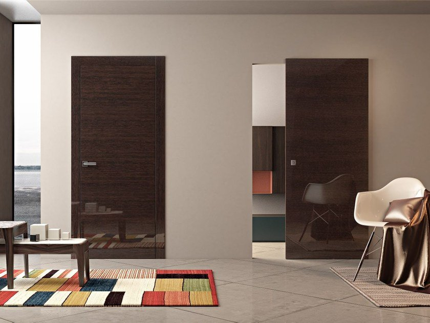 Wooden sliding door MARSIA | Sliding door by Pail Serramenti