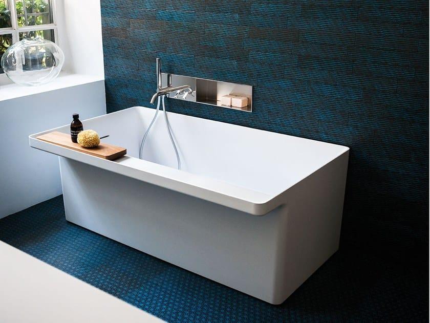 Rectangular Cristalplant® bathtub MARSIGLIA by Agape