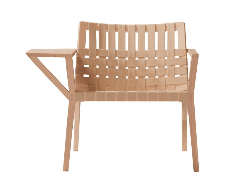 Beech easy chair with armrests MARTA 244CC by Capdell
