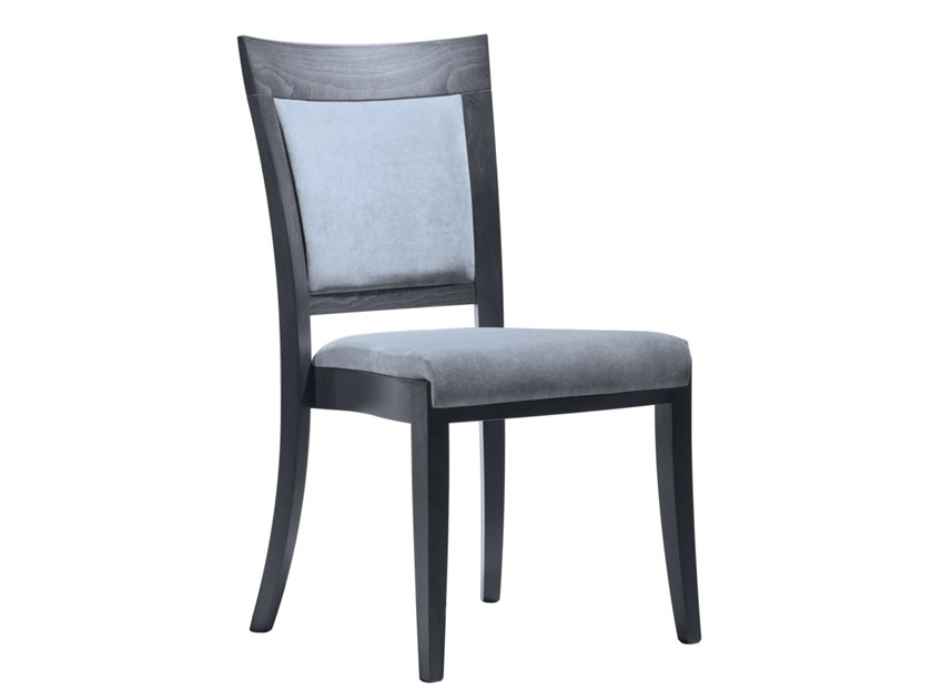 Upholstered stackable open back fabric chair MARTA SE02 by New Life