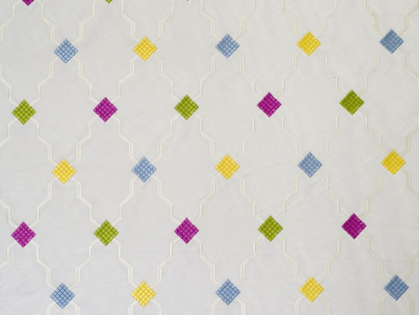 Cotton fabric with graphic pattern MARTINIQUE by Aldeco