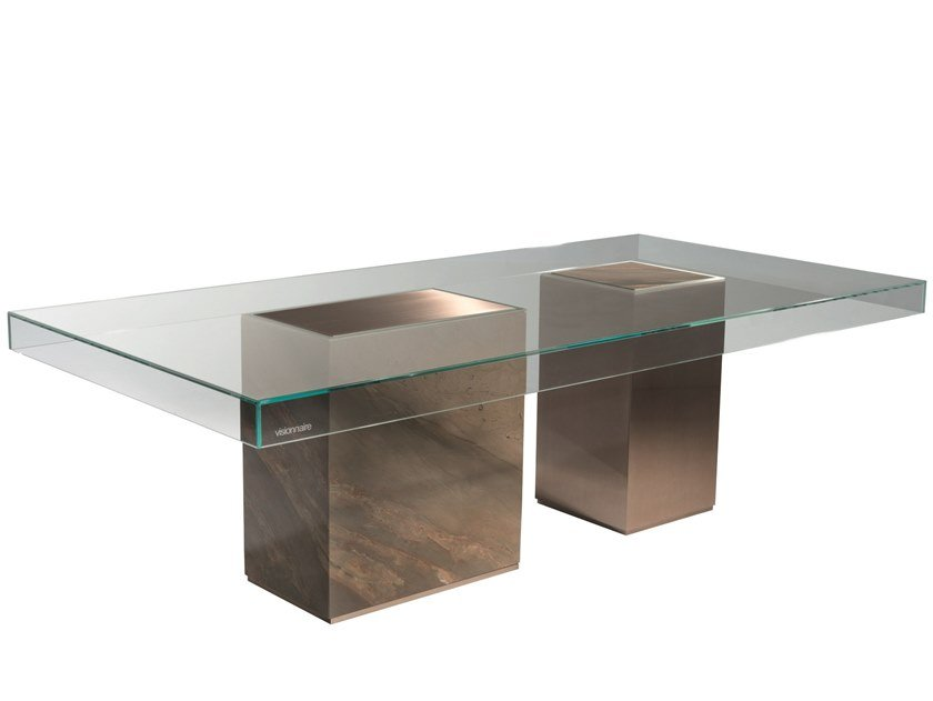 Rectangular glass dining table MARTY | Table by Visionnaire
