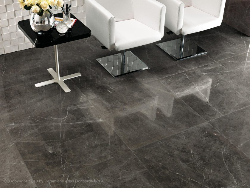 Porcelain stoneware flooring with marble effect MARVEL FLOOR | Porcelain stoneware flooring by Atlas Concorde