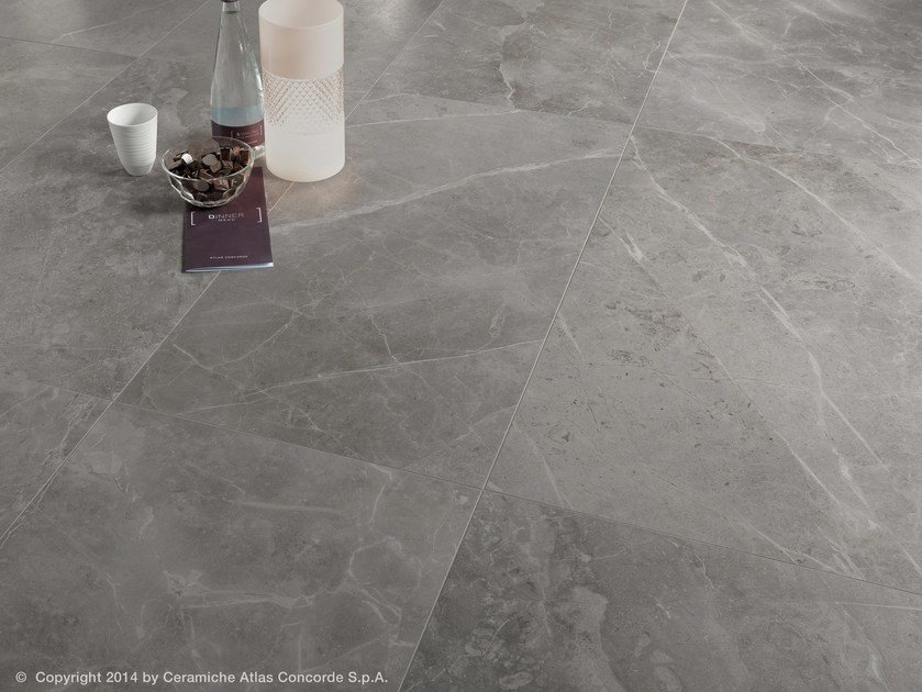 Porcelain stoneware flooring with marble effect MARVEL PRO FLOOR | Porcelain stoneware flooring by Atlas Concorde