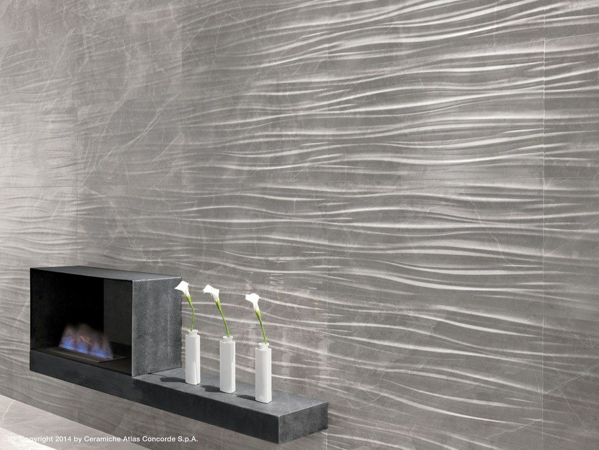 White-paste 3D Wall Cladding MARVEL PRO WALL | White-paste 3D Wall Cladding by Atlas Concorde