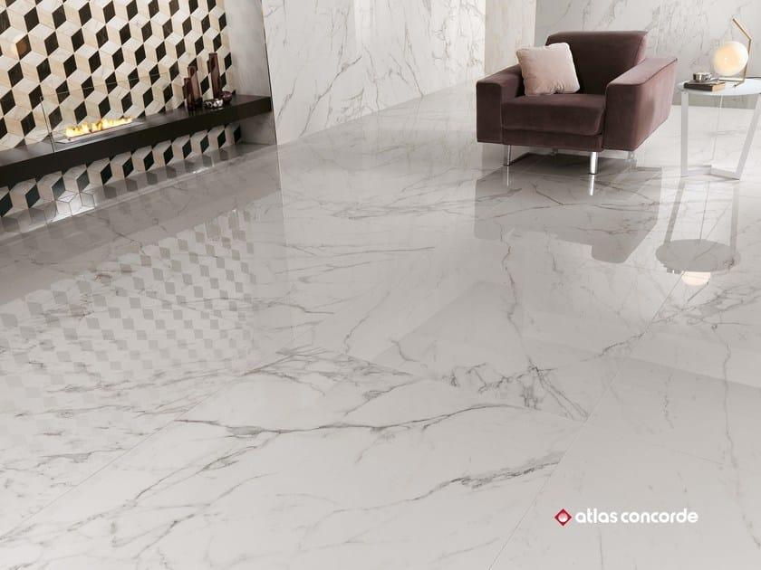 Pavimento in gres porcellanato effetto marmo marvel xl - Piastrelle grandi formati prezzi ...