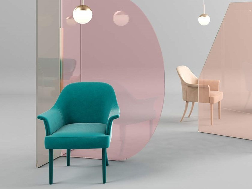 Easy chair with armrests MARY | Easy chair by Adriani e Rossi edizioni