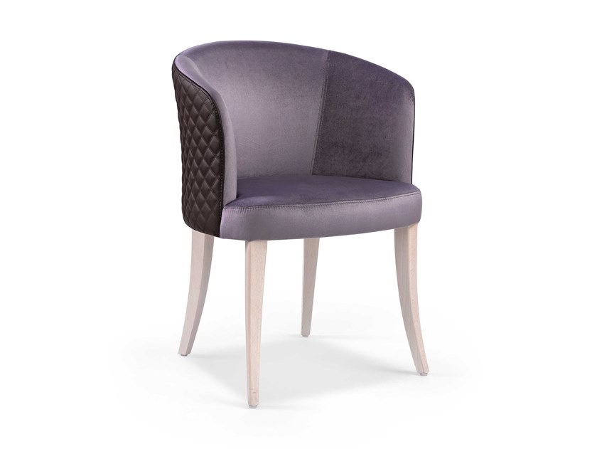 Upholstered fabric chair MARY by Fenabel