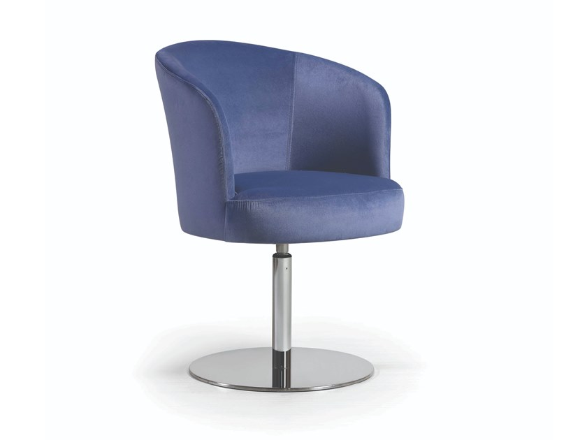 Swivel upholstered fabric chair MARY METAL FLAT by Fenabel