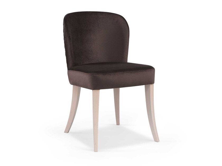 Upholstered fabric chair MARY NO by Fenabel