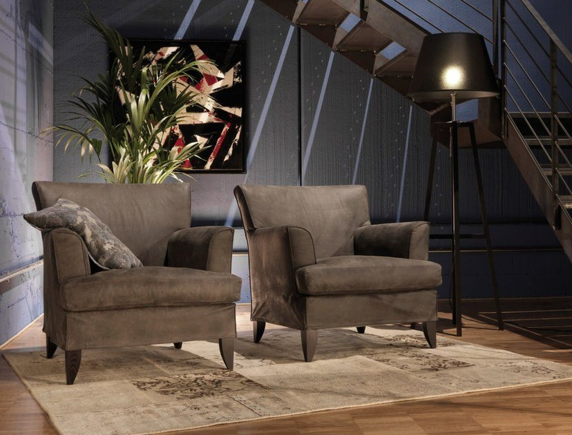 Armchair with armrests MARYANNE by Bodema