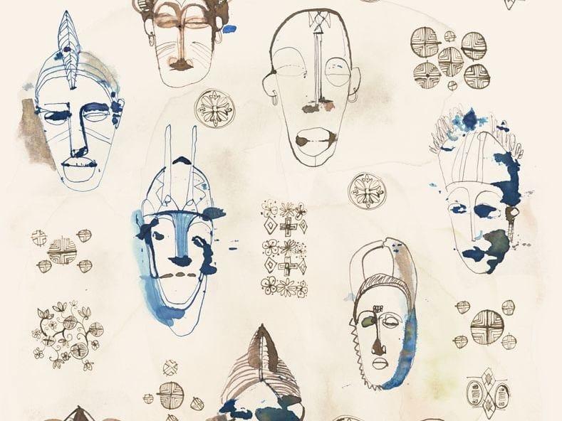 Oriental wallpaper, PVC free, eco, washable MASCHERE by Wallpepper