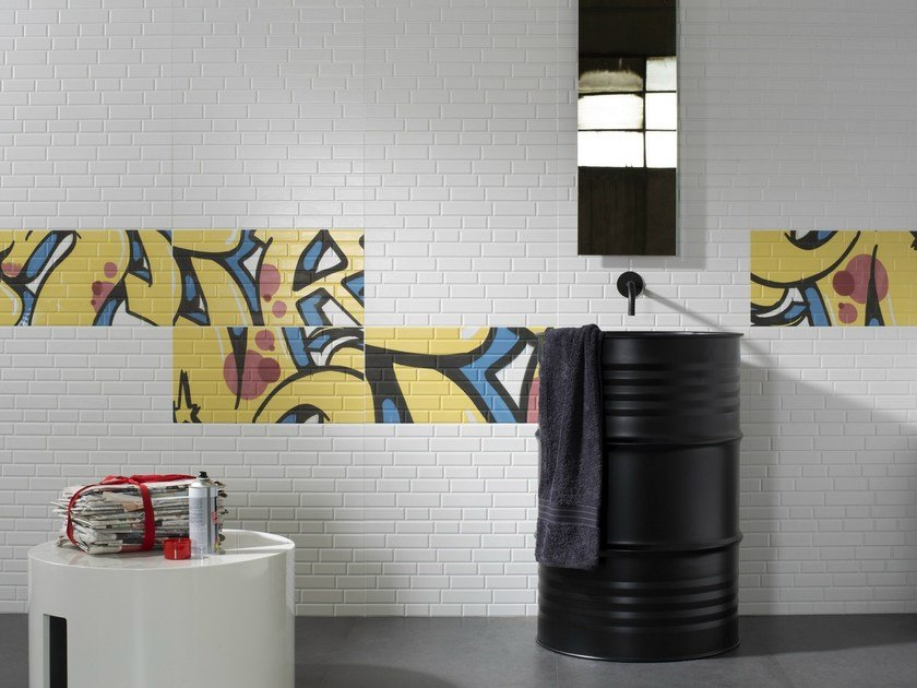 Double-fired ceramic wall tiles MASH-UP by Ceramica d'Imola
