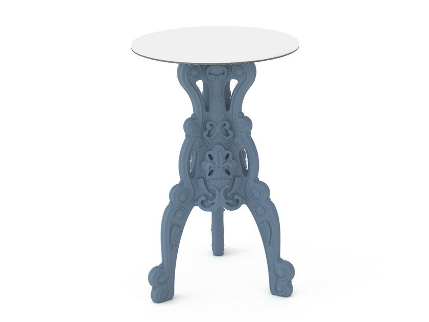 Round polyethylene high table MASTER OF LOVE | Round table by SLIDE