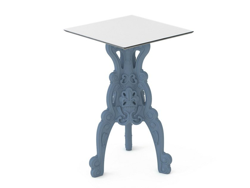 Square polyethylene high table MASTER OF LOVE | Square table by SLIDE