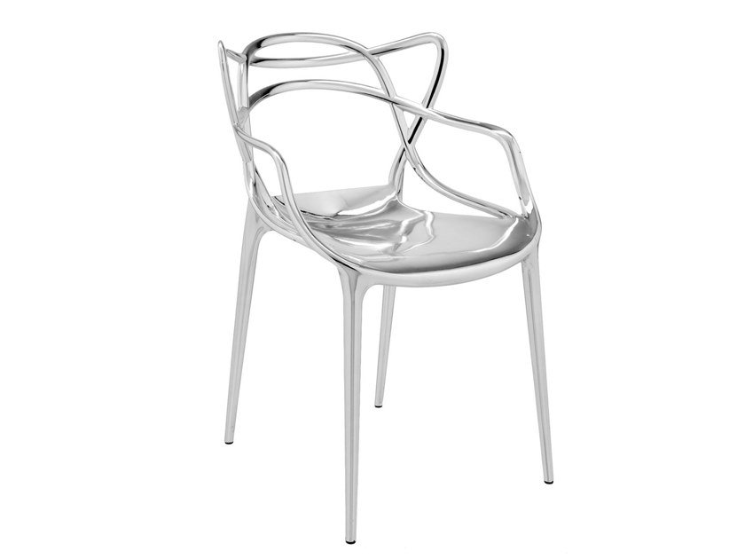 Chair With Armrests Kartell Masters Chrome By Archiproducts Com
