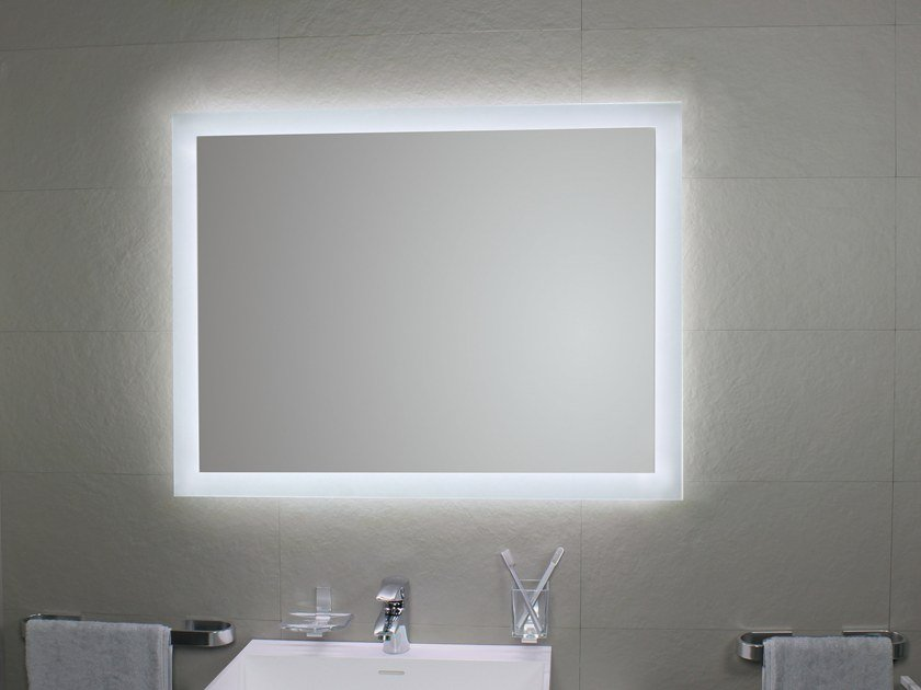 Bathroom mirror with integrated lighting MATE4 LED by KOH-I-NOOR