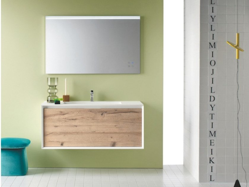Wall-mounted vanity unit with drawers MATERIA VIP 01 by Arbi Arredobagno