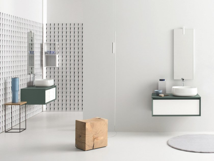 Wall-mounted vanity unit with drawers MATERIA VIP 03 by Arbi Arredobagno