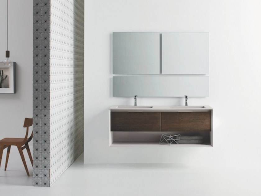 Wall-mounted vanity unit with drawers MATERIA VIP 04 by Arbi Arredobagno