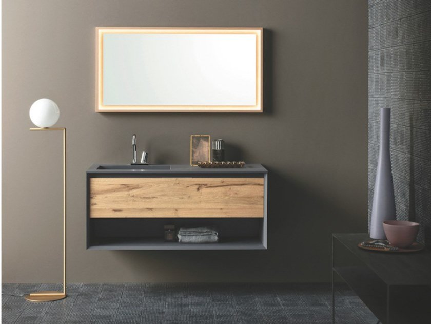 Wall-mounted vanity unit with drawers MATERIA VIP 07 by Arbi Arredobagno