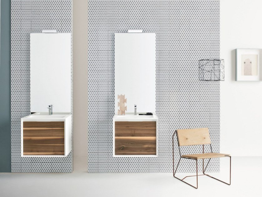 Wall-mounted vanity unit with drawers MATERIA VIP 08 by Arbi Arredobagno