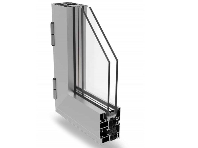 Aluminium casement window MATIC 62 PLUS by ALsistem