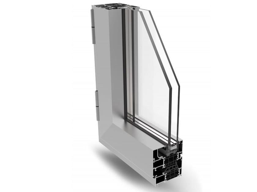 Aluminium casement window MATIC 72 PLUS by ALsistem