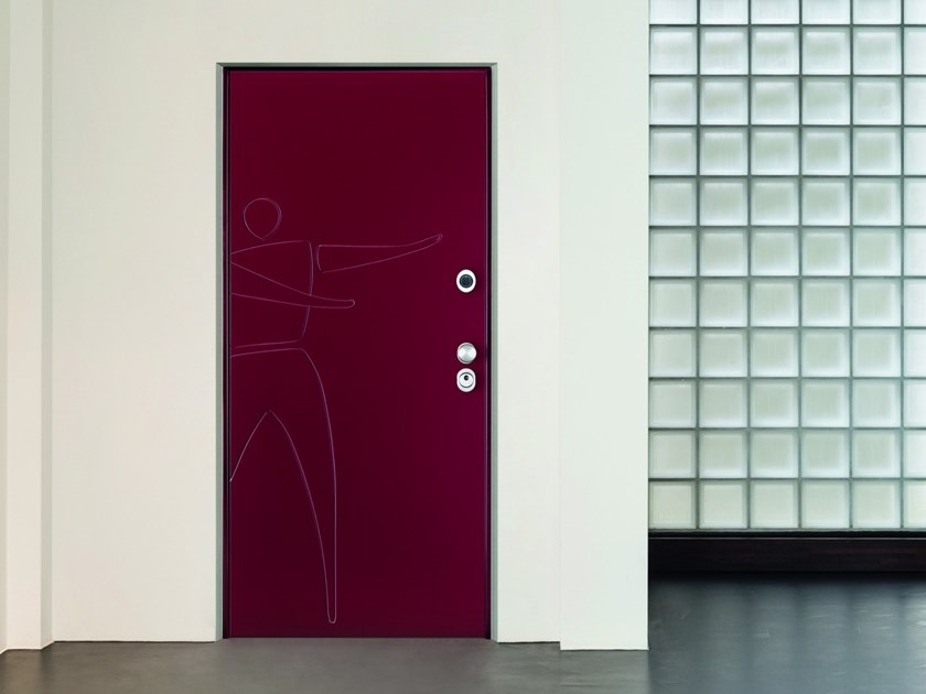 Electronic security door with digitally controlled locking MATIK Galaxy by VIGHI