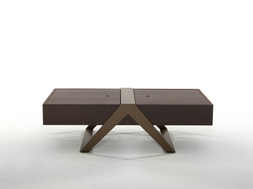 Low rectangular coffee table with storage space MATRIOSKA by Tonin Casa