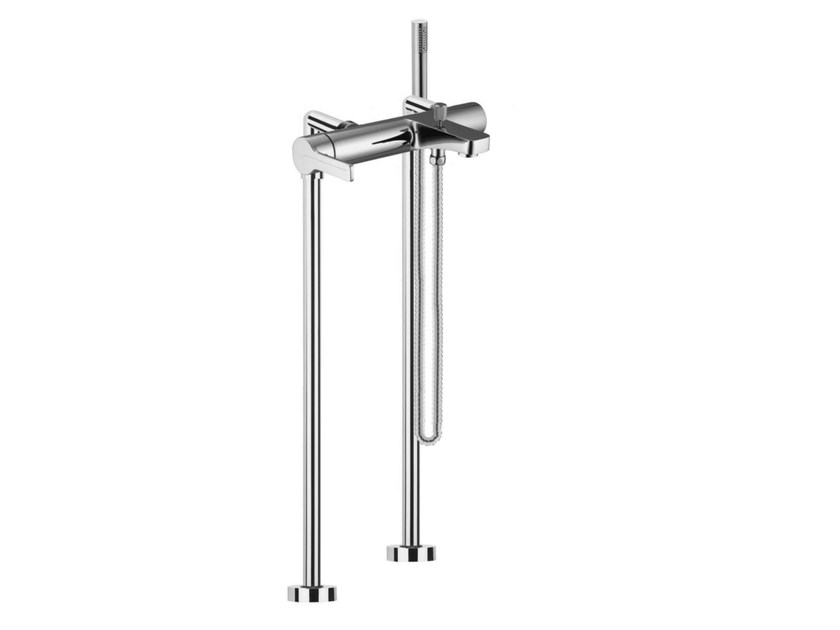 2 hole floor standing bathtub mixer with hand shower MATRIX F3534/4 | Bathtub mixer by FIMA Carlo Frattini