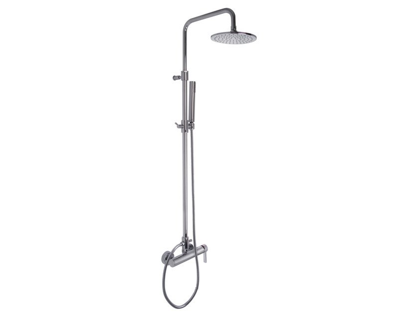 Wall-mounted shower panel with overhead shower MATRIX F3545/2 | Shower panel by FIMA Carlo Frattini