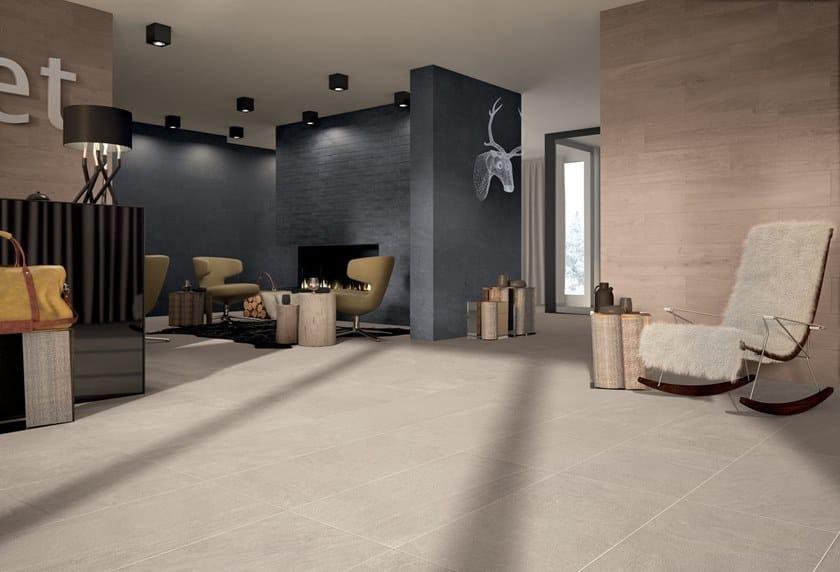 Porcelain stoneware wall/floor tiles with stone effect MATRIX GREY by Marca Corona