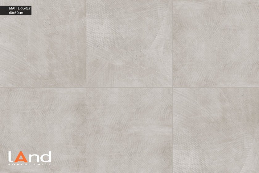 Technical porcelain wall/floor tiles with stone effect MATTER GREY by Land Porcelanico