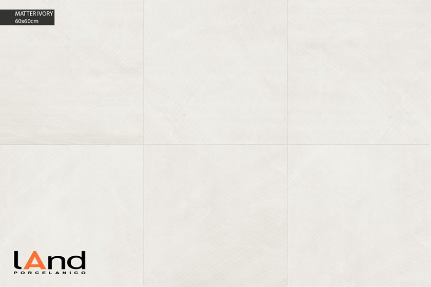 Technical porcelain wall/floor tiles with stone effect MATTER IVORY by Land Porcelanico