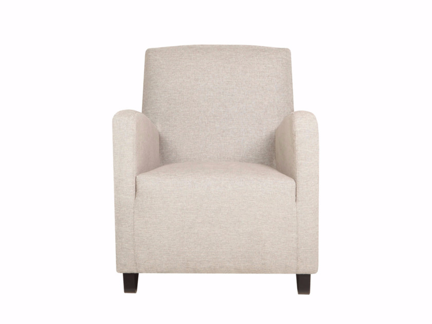 Upholstered fabric armchair with armrests MATTIS by SITS