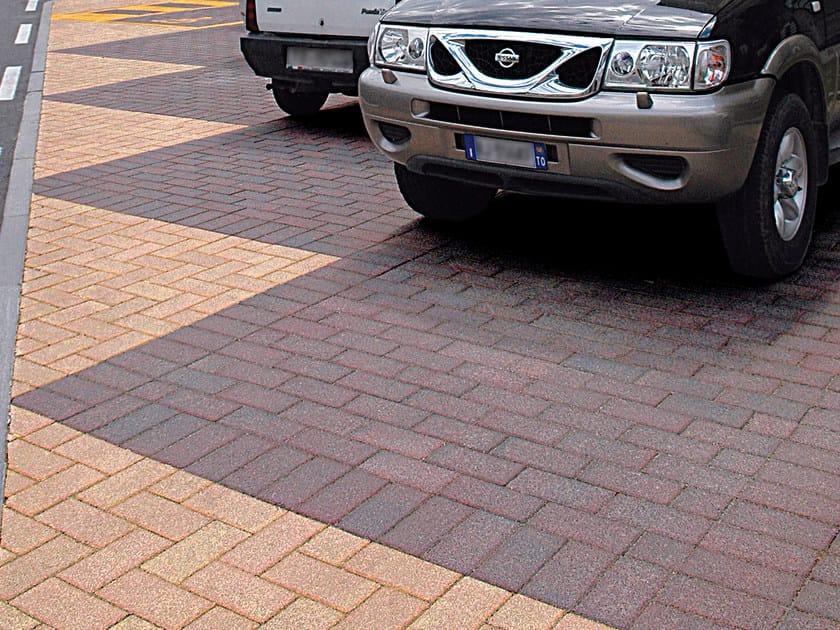 Concrete paving block MATTONE by RECORD - BAGATTINI