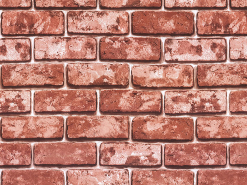 Self adhesive plastic furniture foil with stone effect RED BRICKS by Artesive