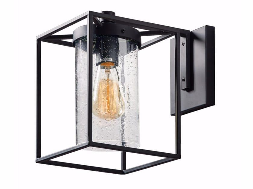 Applique per esterno a luce diretta in acciaio e vetro matty by