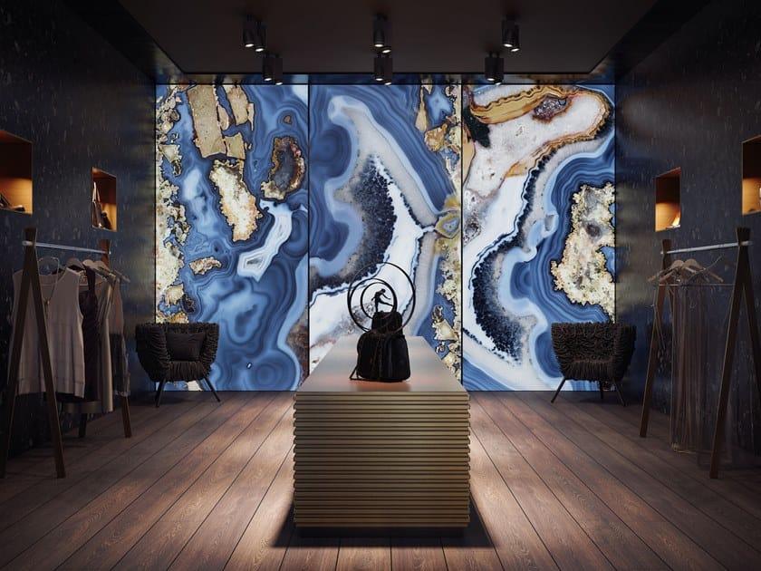 Resin Decorative panel MAUI BLUE by Tecnografica Italian Wallcoverings