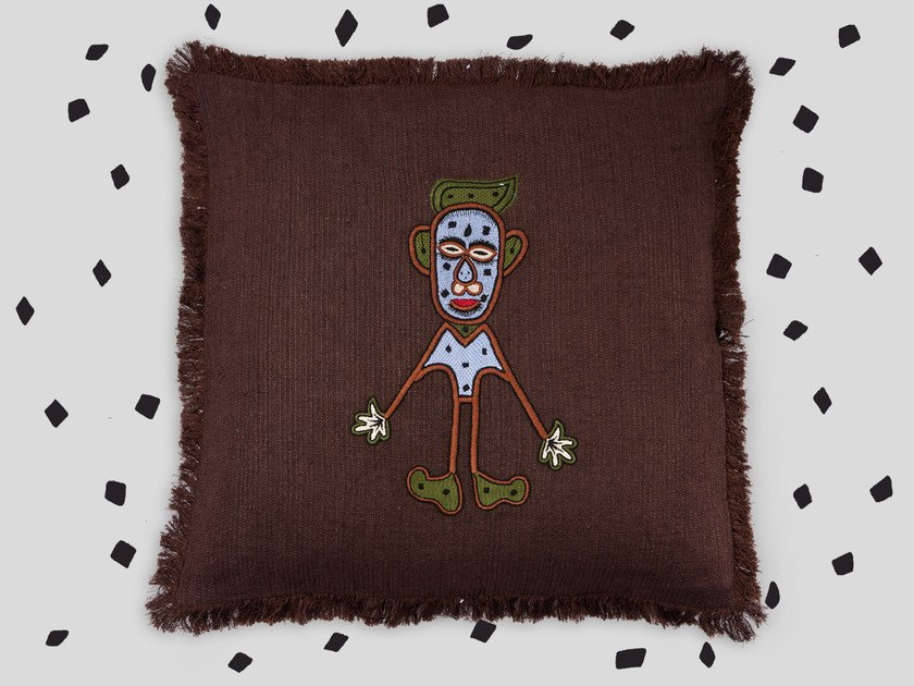 Hand embroidered cushion MAUSA by Jupe by Jackie