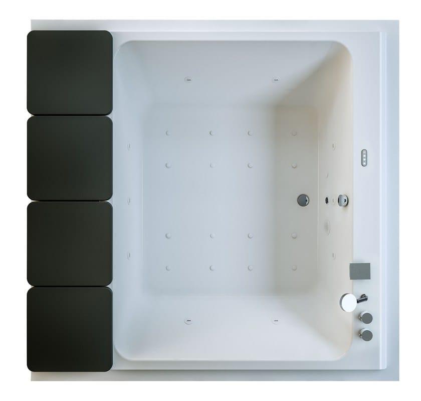Vasca da bagno idromassaggio in acrilico mawi collezione - Vasca da bagno acrilico ...