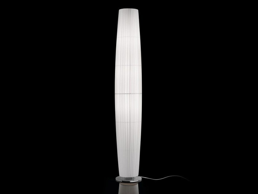 Fabric floor lamp with dimmer MAXI P/03 by BOVER