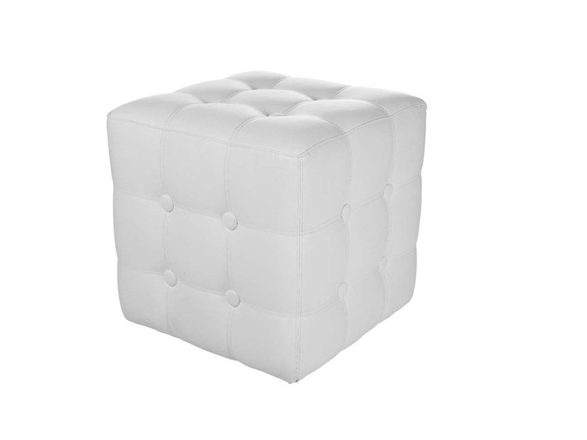 Tufted upholstered square pouf MINI - MAXI | Tufted pouf by Trevisan Asolo