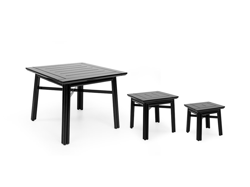 Square wooden garden side table MAXIM PLUS | Coffee table by Braid
