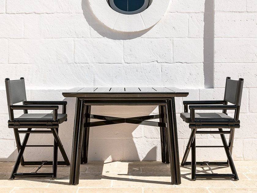 Square wooden garden table MAXIM PLUS | Square table by Braid